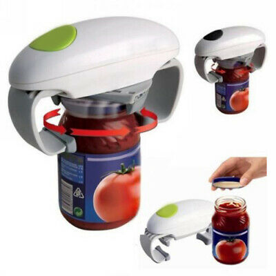 One Touch Automatic Electric Jar Lid Opener Tin Opener Kitchen Tools Gadget