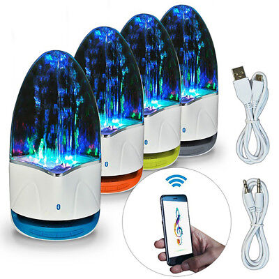 LED Dancing Water Wireless/TF Bluetooth Speaker TF AUX Home Decor Bar Room Hot