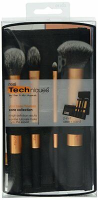 New Real Techniques Core Collection Hand Cut Hair Design Makeup Brush Set