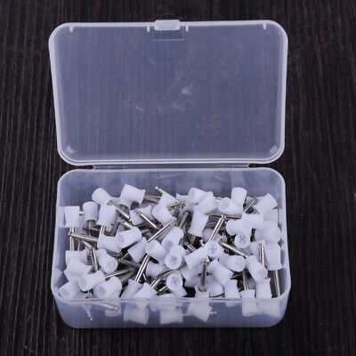100pcs Dental Latch Type Tooth Polisher Polishing Prophy Cup Brushes Bowl White