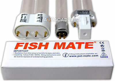 Fish Mate UV Bulb Replacement Genuine Algae Remover All Size Filter Fish Pond