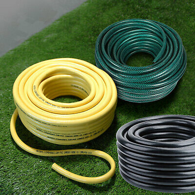 30M 50M Garden Hose Pipes Reinforced Water Hose Heavy Duty Roll Coil 13/19mm