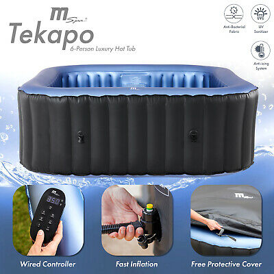 2018 MSpa D-TE06 Tekapo 6-Person Inflatable Hot Tub Jacuzzi Bubble Spa Square