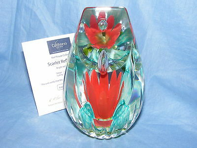 Caithness Glas Briefbeschwerer Hot Haus Collection Scarlet Reflexion LTD EDITION
