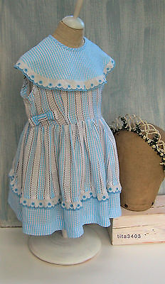 60s-VINTAGE: Kinder-Kleid od. PUPPENKLEID _ Dress for Children or big DOLLS