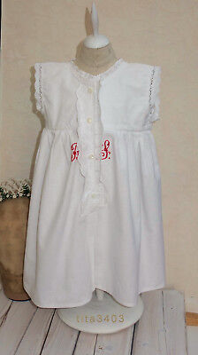 antikes PUPPEN-KLEID _ ca.1895-1925 * BOUDOIR-Doll-Dress _ Kinder-Nachthemd