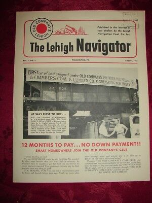 The LEHIGH NAVIGATOR Old Company's Lehigh Vol. 1 No. 5 Aug. 1952 PHOTOS Coaldale