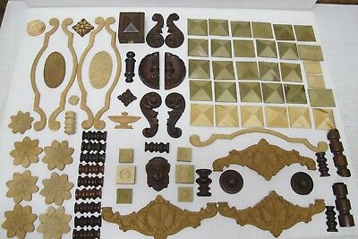 86 Pc Lot ~Asst Embellishment~Adornments~Figural~Part~Clockology~Composition~NOS