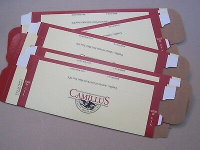 "Lot of 5 Camillus Empty Knife Boxes for fixed blade Knives 10 1/8"" X 2 3/4"""