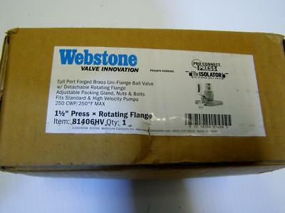 Webstone  81406HV-RF375 8140HV-RF Series Uni-Flange Ball Valve, 1-1/2 pro press