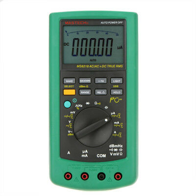 MASTECH MS8218 High Accuracy True RMS Digital Multimeter Meter w/RS232 Interface