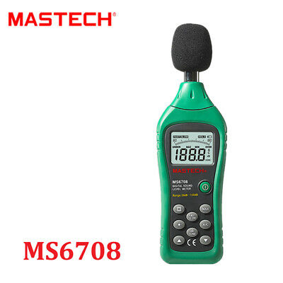 Mastech MS6708 Digital Sound Level Meter Decibel Tester Meter compact Back