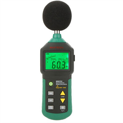 MASTECH MS6702 Digital Sound Level Noise Meter Tester Humidity Meter Thermometer
