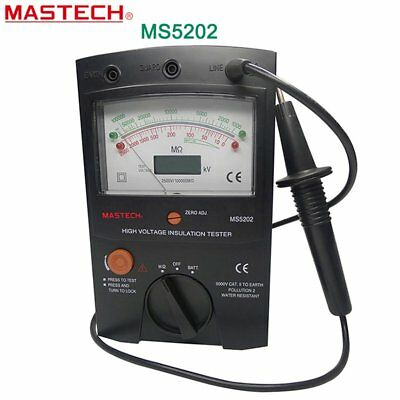 MASTECH MS5202 2500V Digital Analogue High Voltage Insulation Meter Tester