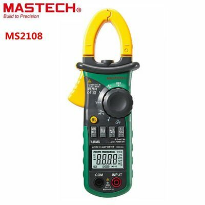 Mastech MS2108 Digital AC/DC Clamp Meter Multimeter LCD Display Voltage Meter