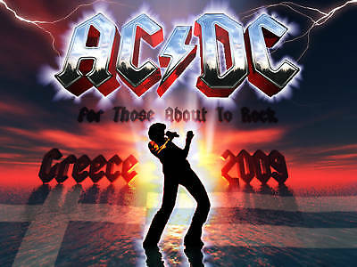"""Acdc """"for Those About To Rock"""" Greece 2009 Tour Poster"""