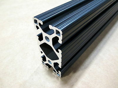80/20 Inc T-Slot 1.5 x 3 Aluminum Extrusion 15 Series 1530-Lite x 24 Black H1-2