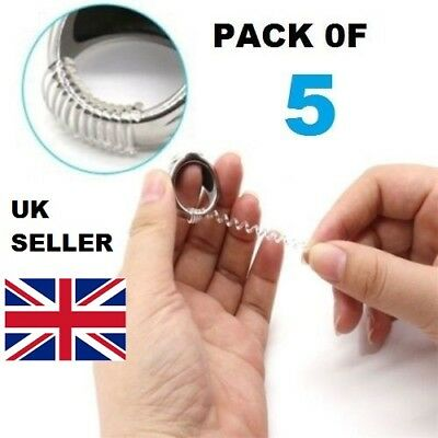 Clear Ring Spiral Snuggies,snug Loose Fit Adjuster Wrong Size Fix - Pack Of 5