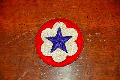 WWII US Shoulder Patch SSI Insignia Army Service Forces Cut-Edge Original