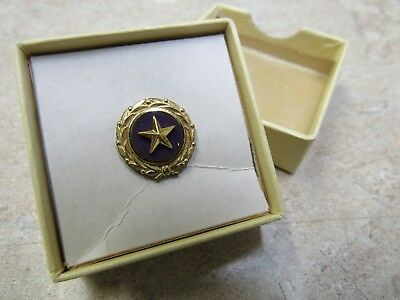 Original Boxed Gold Star Mothers Vintage Military Lapel Pin 1947 ACT Of  Congress