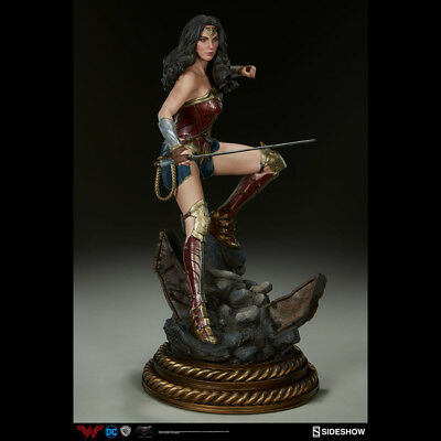 SIDESHOW Bvs.S Wonder Woman Gal Gadot Premium Format Statue Figure NEW SEALED