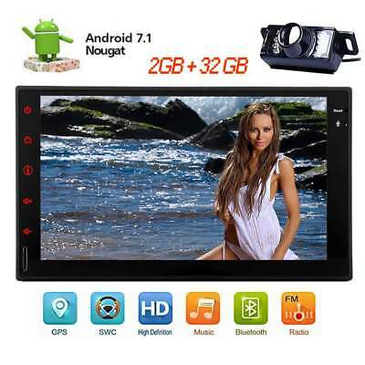 "Android 7.1 Double 2Din 7""HD Car No DVD Radio Stereo Bluetooth GPS+Free Camera"
