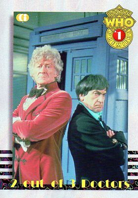 Cornerstone DR WHO chase cards no.1 2 out of 3 Doctors