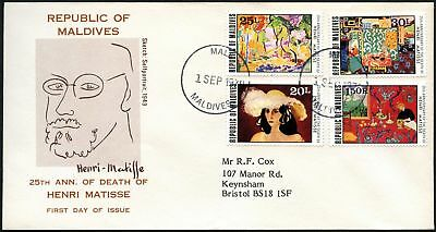Maldive Is. 1979 Henri Matisse FDC First Day Cover #C44517