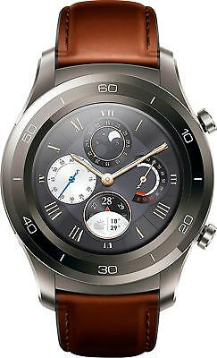 Open-Box Excellent: Huawei - Watch 2 Classic Smartwatch 45mm Plastic/Stainles...