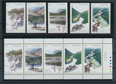 Canada 1991 Heritage River pane + stamps MNH **