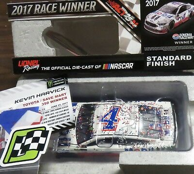 New, 1/24 Action  2017 Ford Fusion, #4, Mobil 1 Sonoma Win, Kevin Harvick