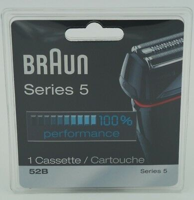 Braun Series 5 52B Cassette Stainless Steel for 5020s 5030s 5040s