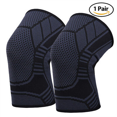 Knee Patella Support Arthritis Wraps Compression Sleeve Joint Sport Brace 1 pair