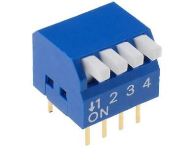 DP-04 Switch DIP-SWITCH Poles number4 ON-OFF 0.05A/12VDC -20÷70°C