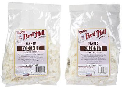 Bob's Red Mill Unsweetened Flaked Coconut - 12 oz 2 pk