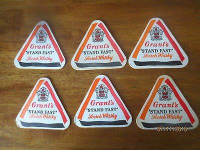 6 x series 2 GRANT,s SCOTCH  Whisky 1970,s Australian Issue Coasters