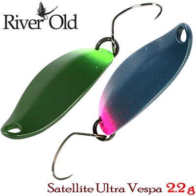 River Old Satellite Ultra Vespa 2.2 g Trout Spoon Assorted Color