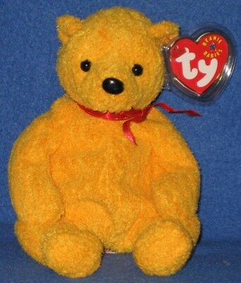TY POOPSIE the BEAR BEANIE BABY - MINT with NEAR PERFECT TAG