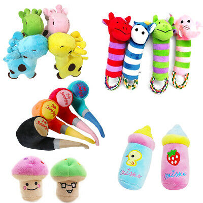 Pet Puppy Chew Play Squeaker Squeaky Cute Plush Sound For Pet Dog Toys