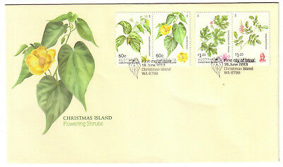 "2013 FDC Christmas Island. Flowering Shrubs.  Pict.PMK ""CHRISTMAS ISLAND"""