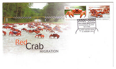 "2014 FDC Christmas Island. Red Crab Migration.  Pict.PMK ""CHRISTMAS ISLAND"""