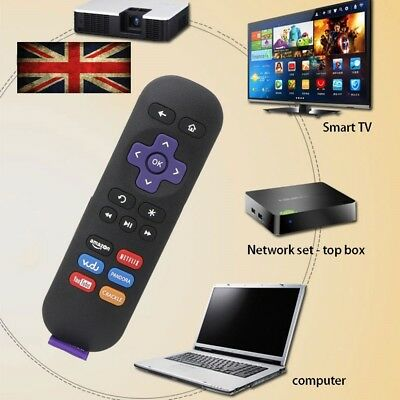New ROKU 1, 2, 3, 4 LT HD XD XS Latest REPLACEMENT Remote Streaming Control UK
