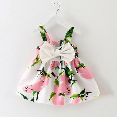 US Infant Baby Girls Sleeveless Princess Outfit Straps Summer Beach Gallus Dress