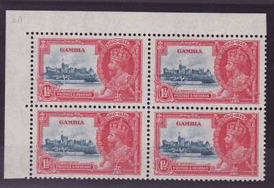 Gambia Gambia KGV Who been jubilant Silver 1 1/2d deep blue & scarlet u/m ** bl