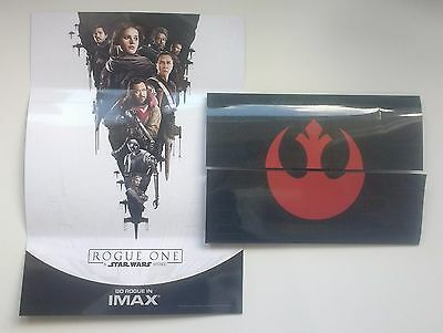 Star Wars Rogue One IMAX Souvenir Ticket Holder/Fold Out Poster Limited LTD rare