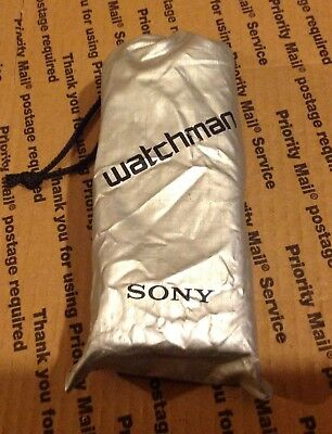 SONY Watchman Portable TV Television Model No. FD-2A w/ Power Adaptor & Instruc