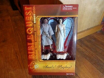 BIBLE QUEST ANGEL /& SHEPHERD ACTION FIGURE SET NIB