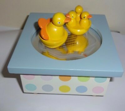 Trousselier Dancing Ducks Wooden Children's Musical Box Swan Lake Nursery Toy