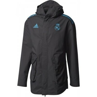 Adidas Herren Real Madrid All Weather Jacke - Farbe Schwartz - Gr. XL