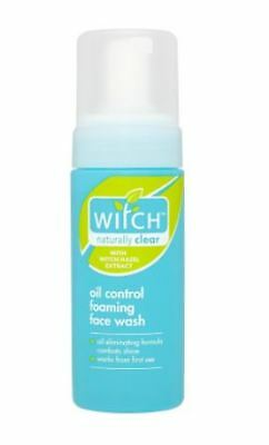 6 x Witch Naturally Clear Oil Control Foam Face Wash Hazel Extract 150ml